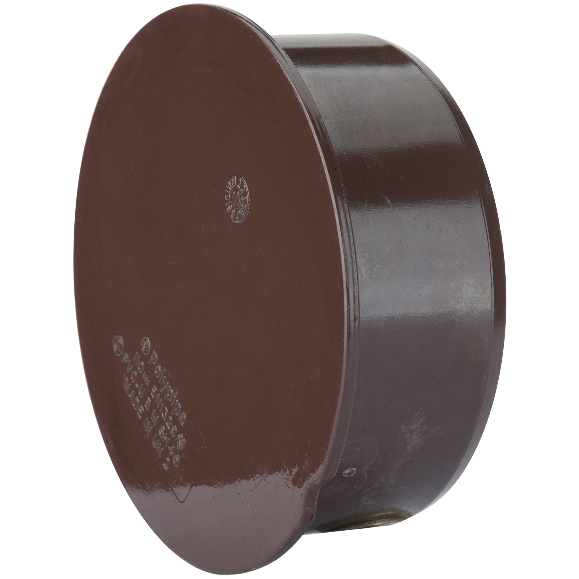 Polypipe 110mm Soil Socket Plug - Brown