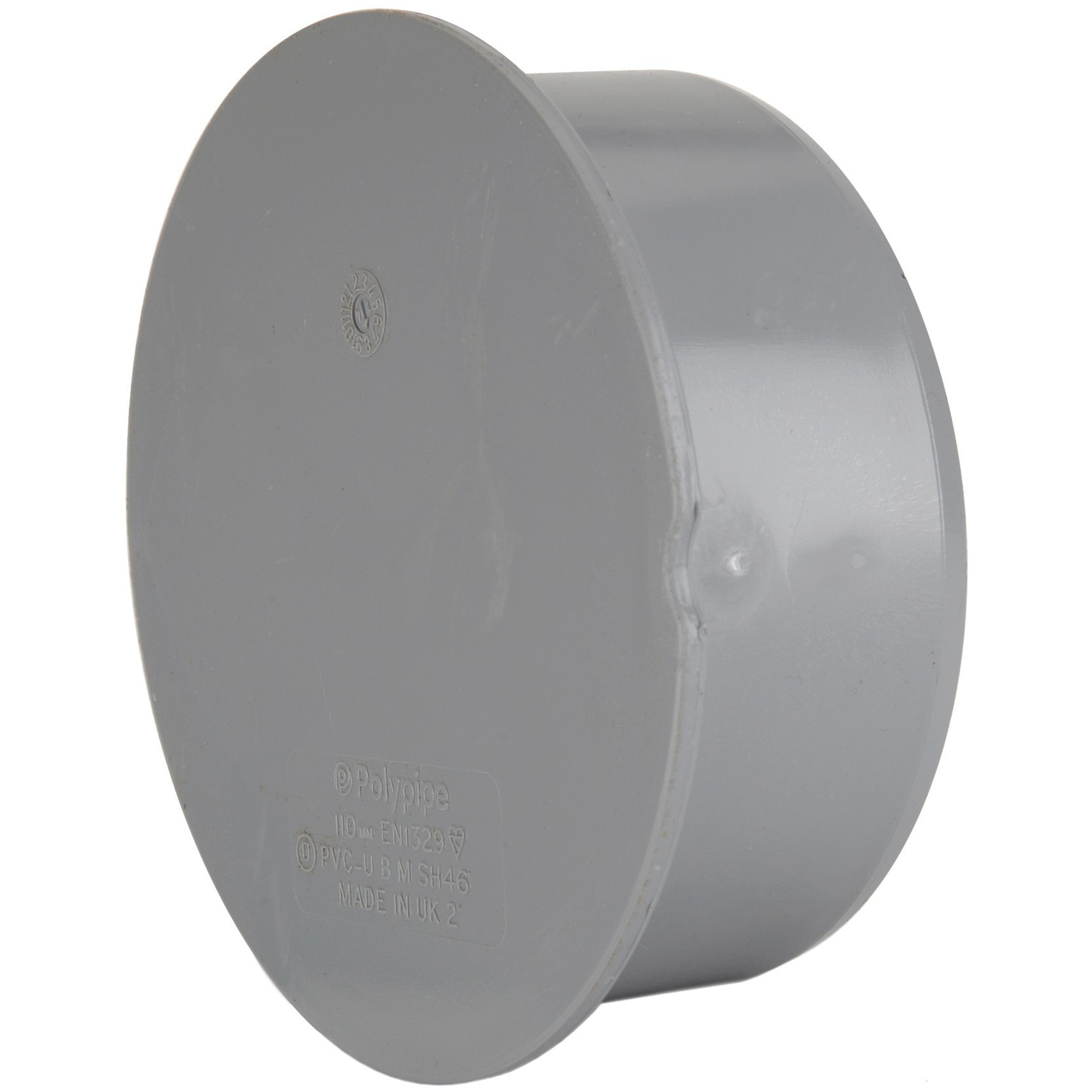 Polypipe 110mm Soil Socket Plug - Grey