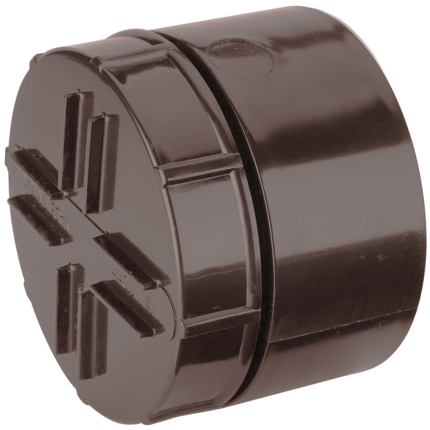 Polypipe 110mm Soil Socket Tail Screwed Access Cap - Brown