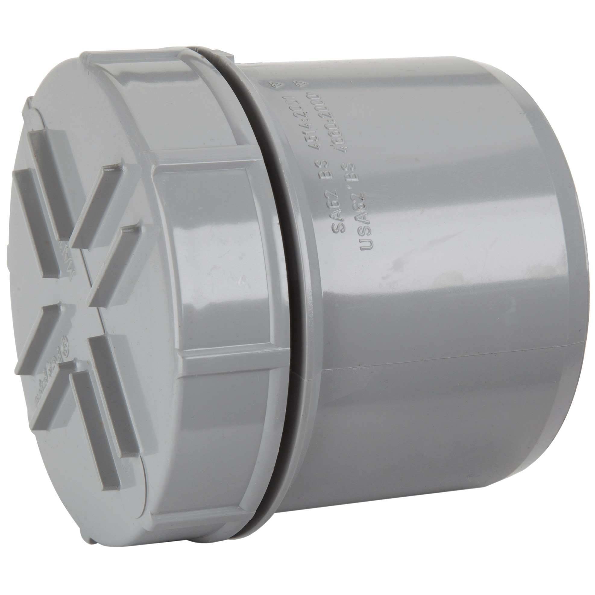 Polypipe 110mm Soil Spigot Tail Screwed Access Cap - Grey