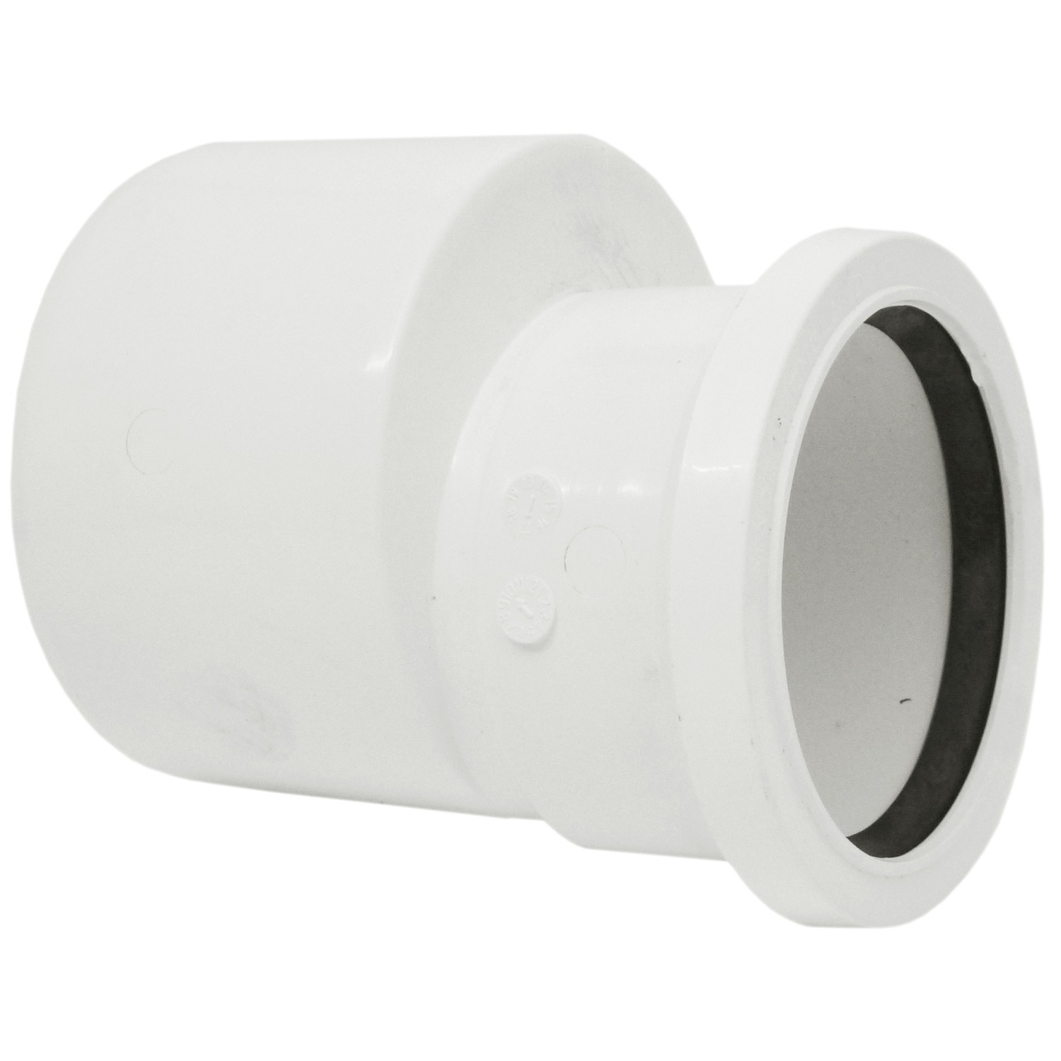 Polypipe 110mm To 82mm Soil Reducer - White
