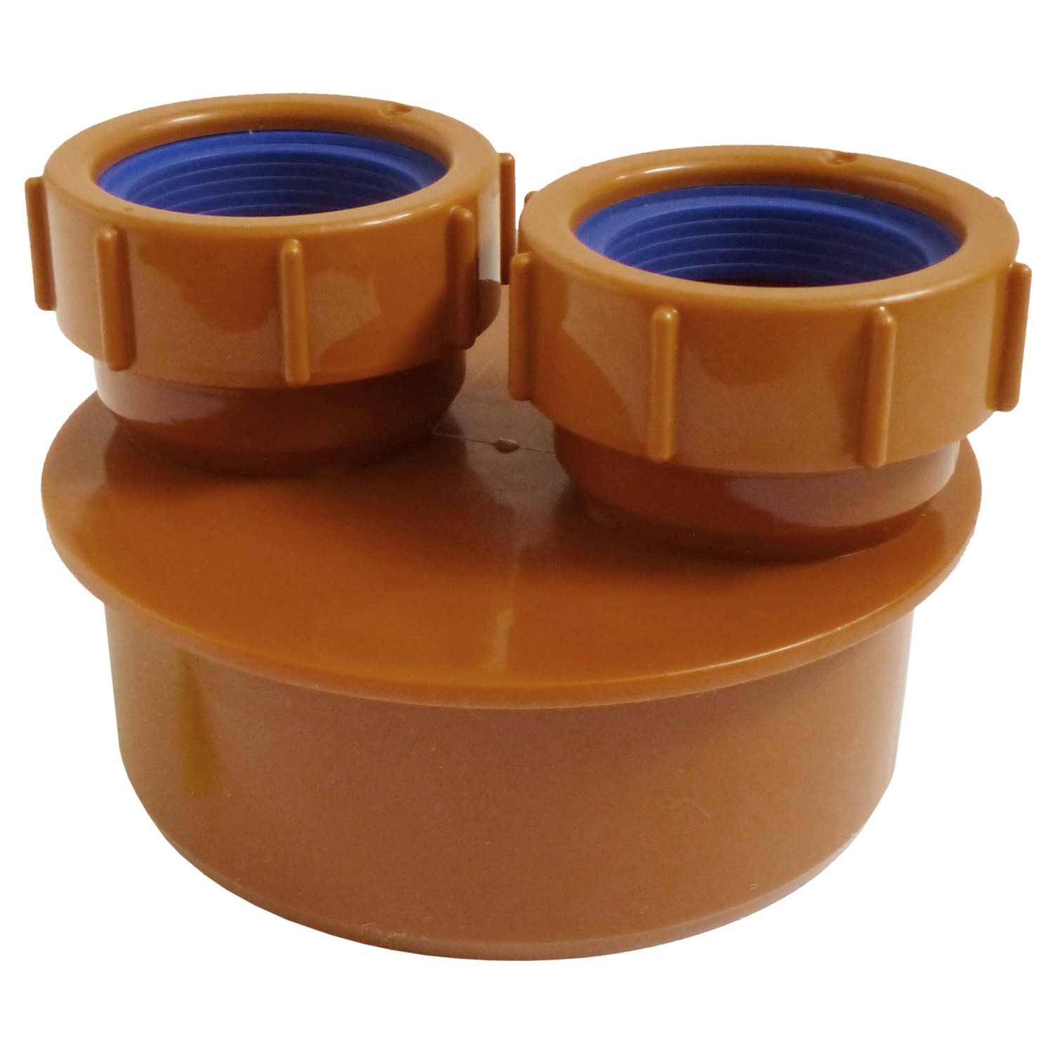 Polypipe 110mm Underground 40mm Double Waste Pipe Adaptor - Terracotta