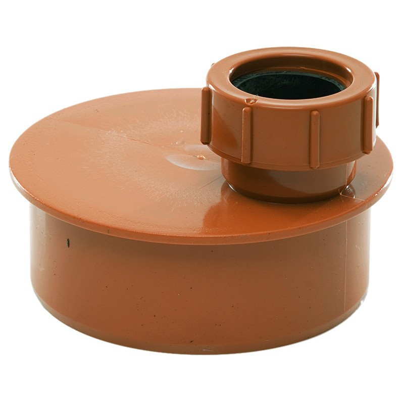 Polypipe 110mm Underground 40mm Single Waste Pipe Adaptor - Terracotta