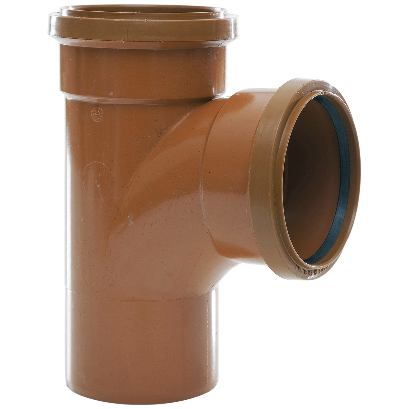 Polypipe 110mm Underground 87.5 Double Socket Equal Junction - Terracotta