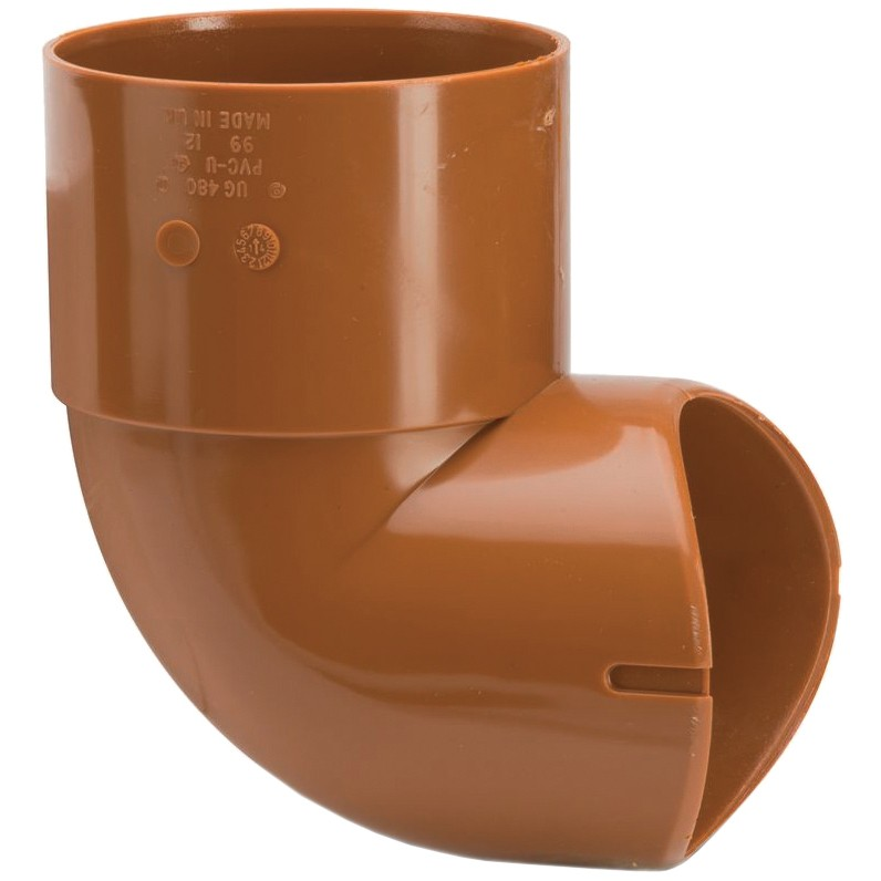 Polypipe 110mm Underground Back Entry Bend - Terracotta