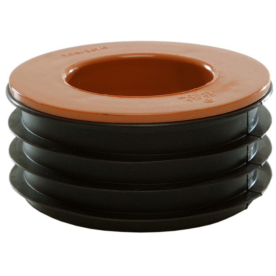 Polypipe 110mm Underground Single Waste Pipe Adaptor - Terracotta