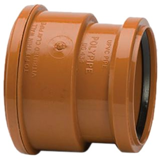 Polypipe 110mm Underground Super Clay to PVC Socket Adaptor - Terracotta