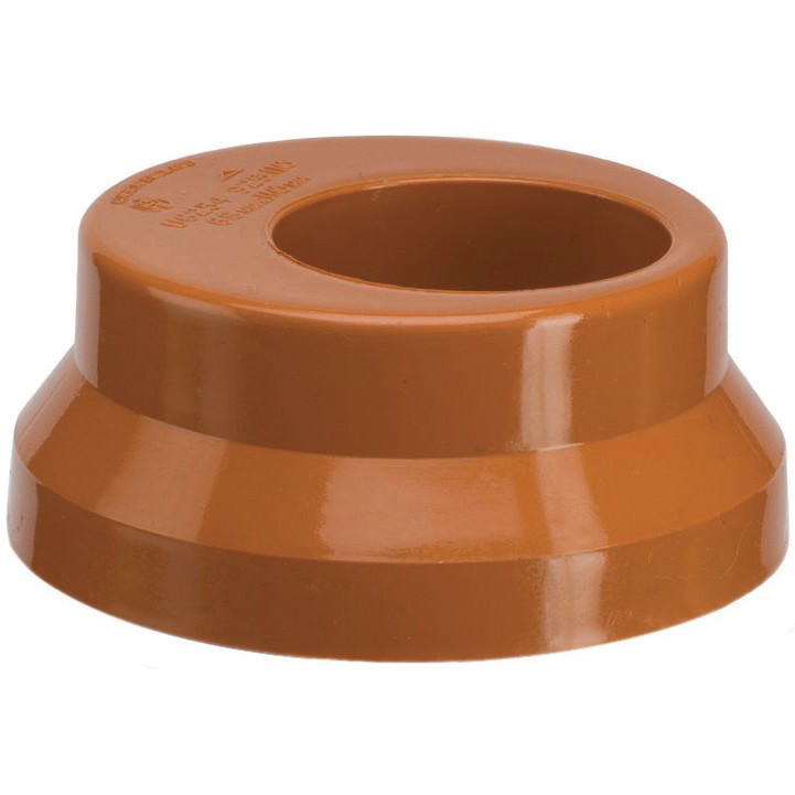 Polypipe 110mm Underground to 68mm Rainwater Adaptor - Terracotta