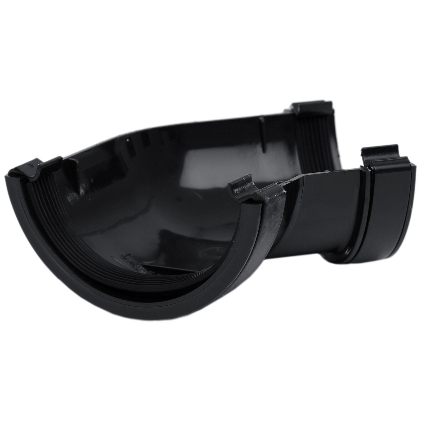 Polypipe 112mm Half Round Gutter 135 Degree Angle - Black