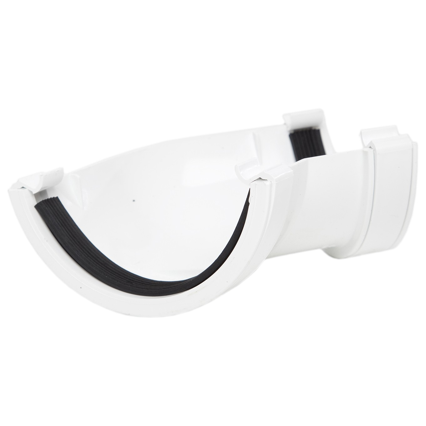 Polypipe 112mm Half Round Gutter 135 Degree Angle - White