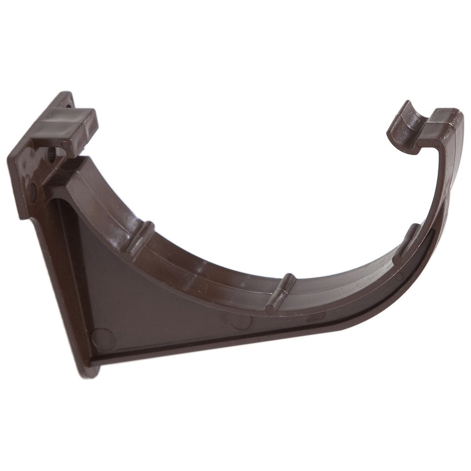 Polypipe 112mm Half Round Gutter Fascia Bracket - Brown