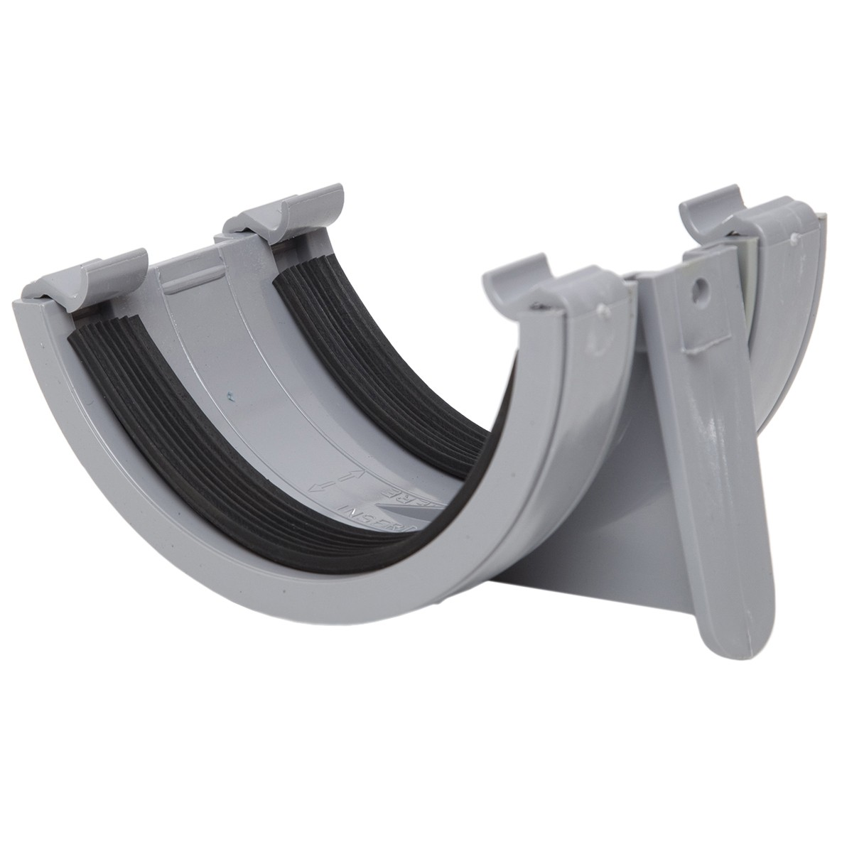 Polypipe 112mm Half Round Gutter Union Bracket - Grey