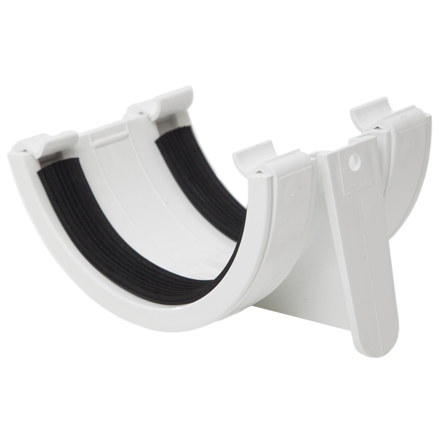 Polypipe 112mm Half Round Gutter Union Bracket - White
