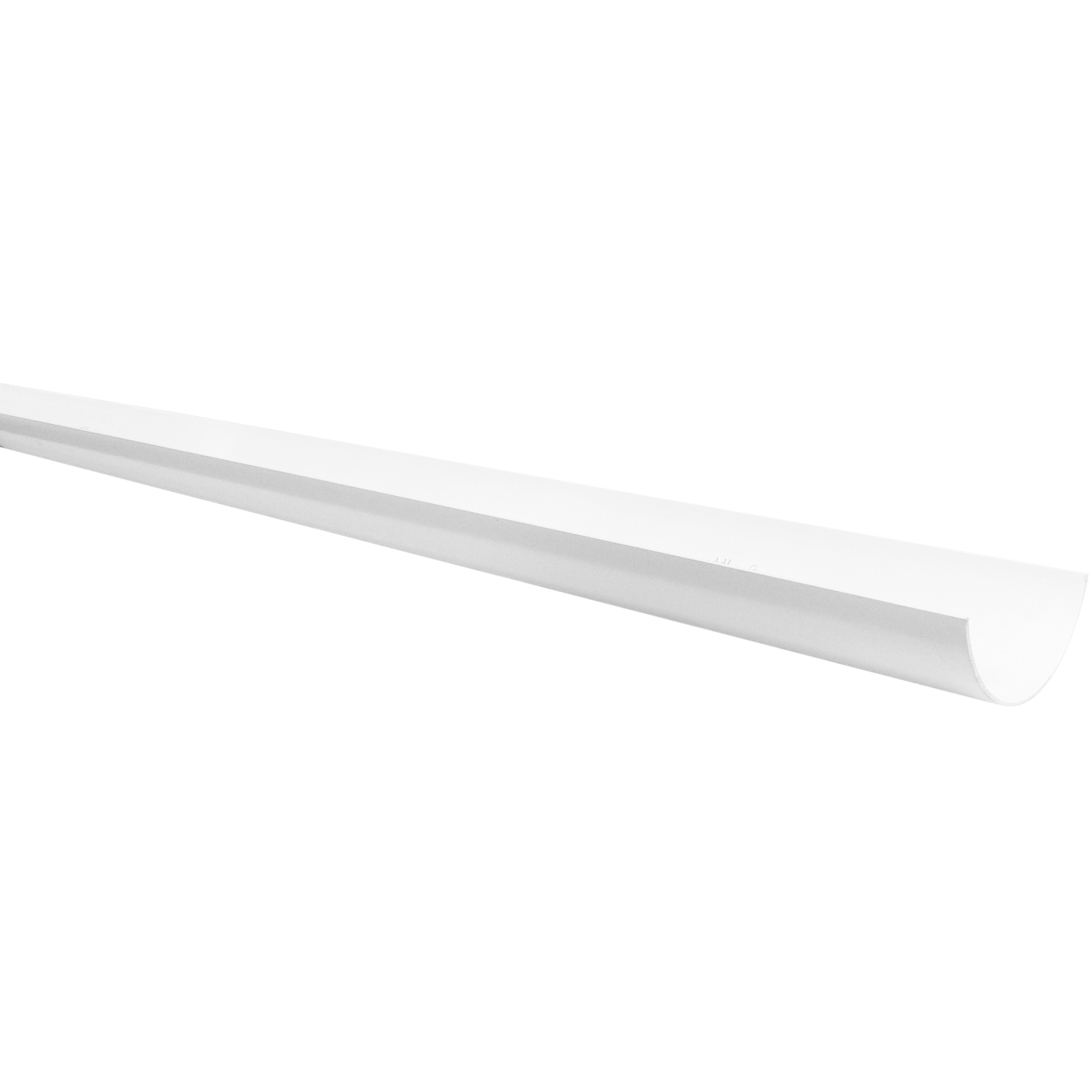Polypipe 112mm Half Round Gutter - White, 4 metre