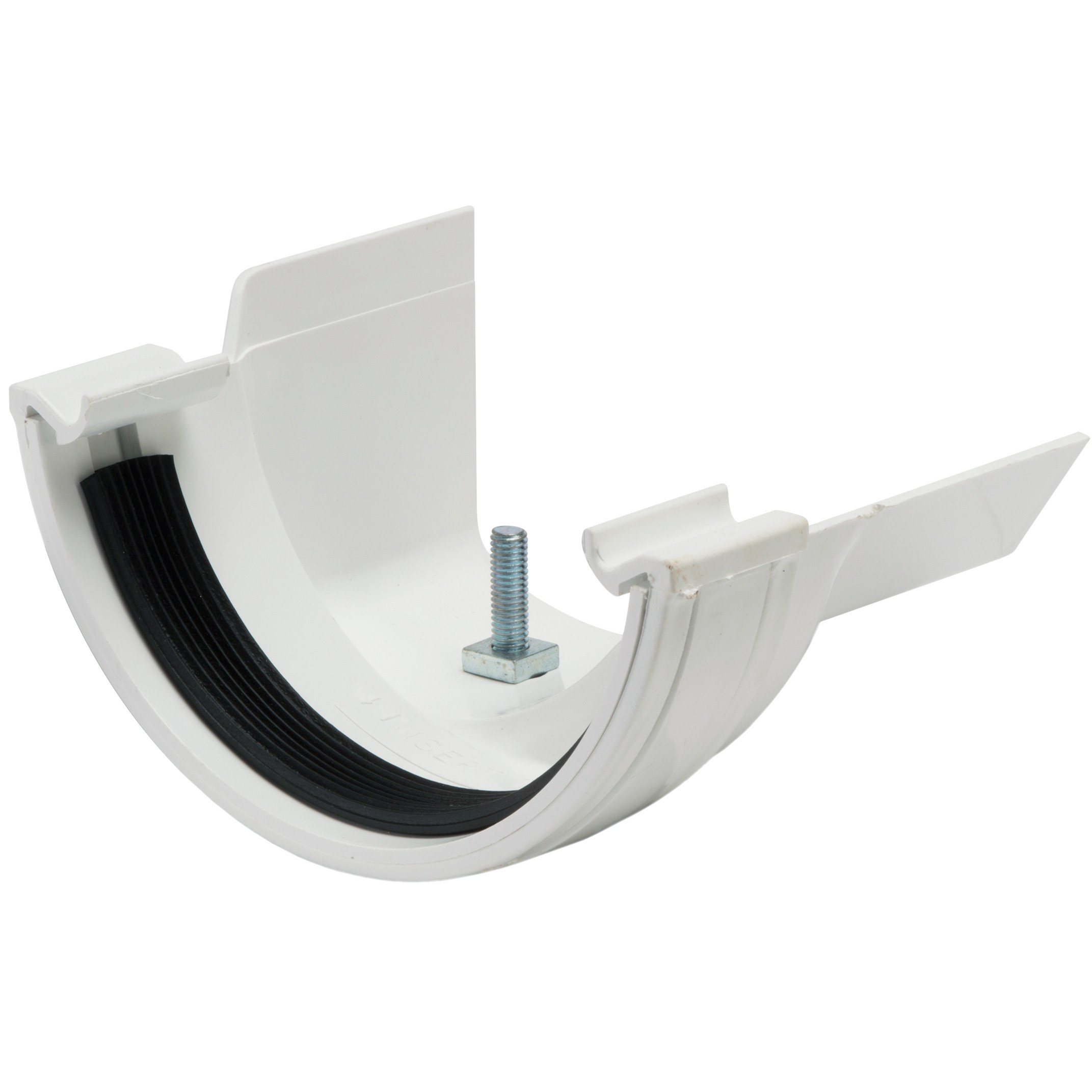 Polypipe 112mm Half Round to Metal 130mm Ogee Gutter Adaptor (Right Hand) - White
