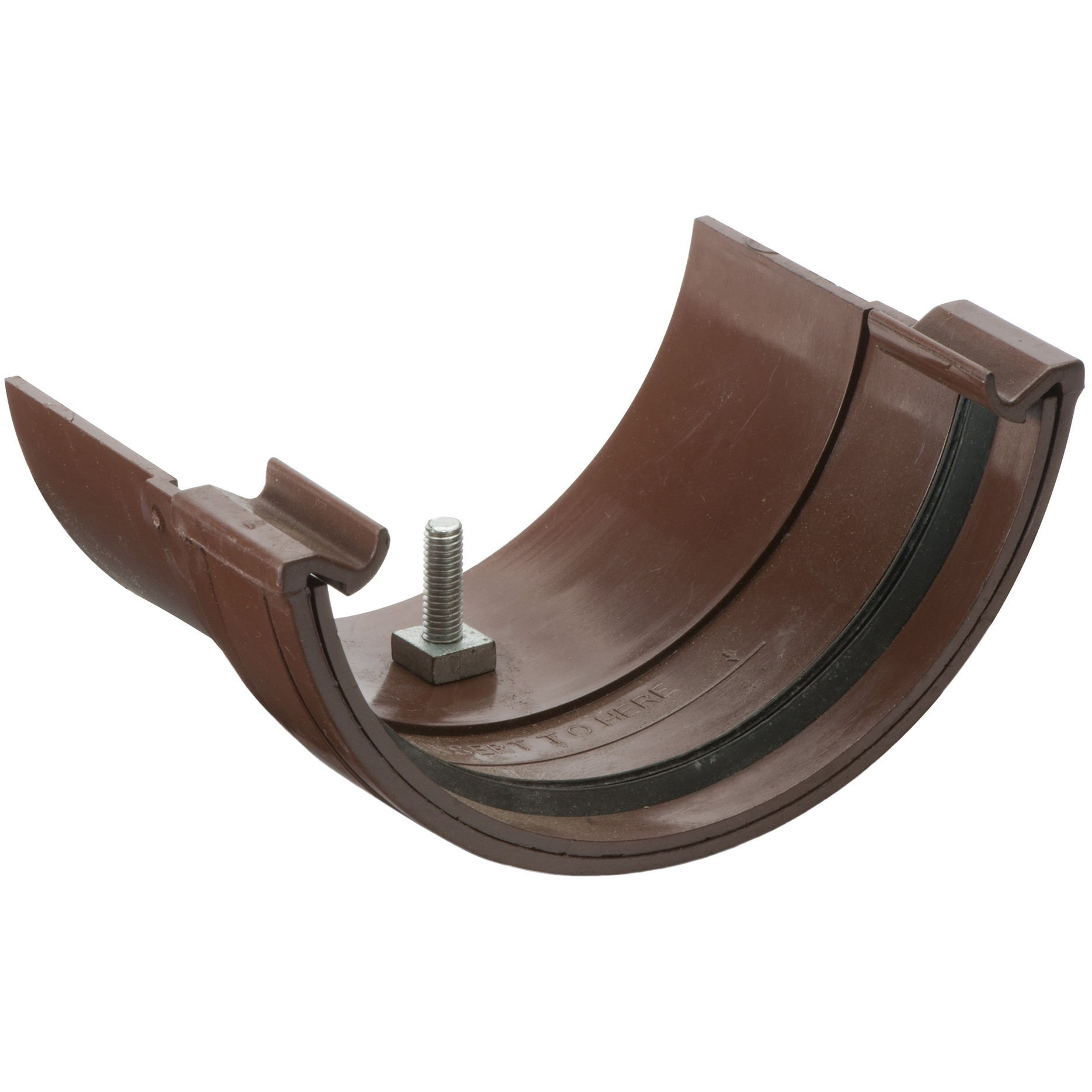 Polypipe 112mm Half Round to Metal Half Round Gutter Adaptor - Brown