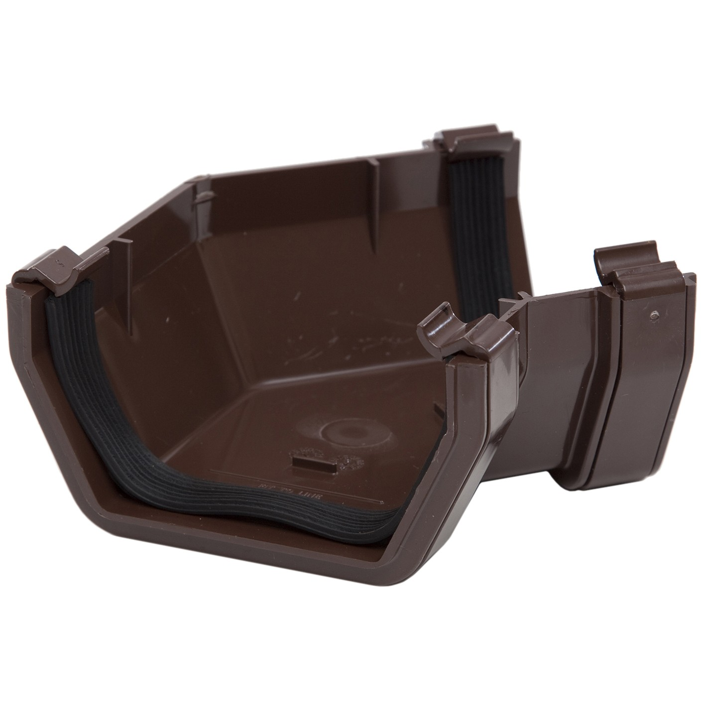 Polypipe 112mm Square Gutter 135 Degree Angle - Brown