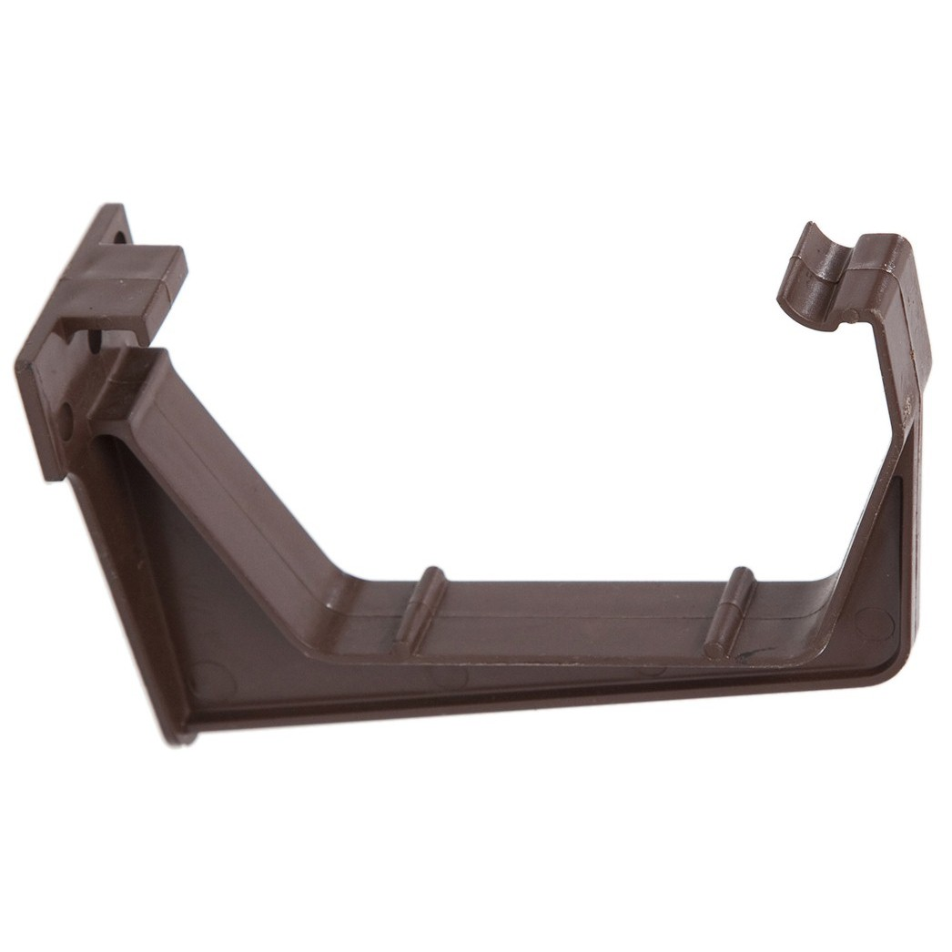 Polypipe 112mm Square Gutter Fascia Bracket - Brown