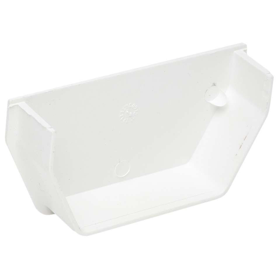 Polypipe 112mm Square Gutter Stop End (Internal) - White