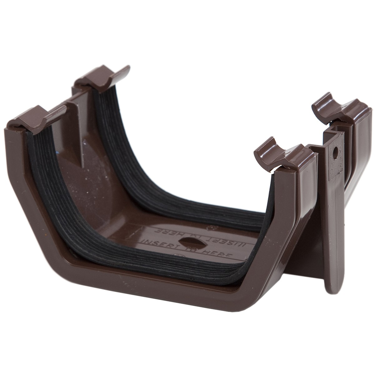 Rs202br Polypipe 112mm Square Gutter Union Bracket Brown