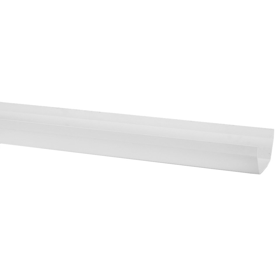 Polypipe 112mm Square Gutter - White, 4 metre
