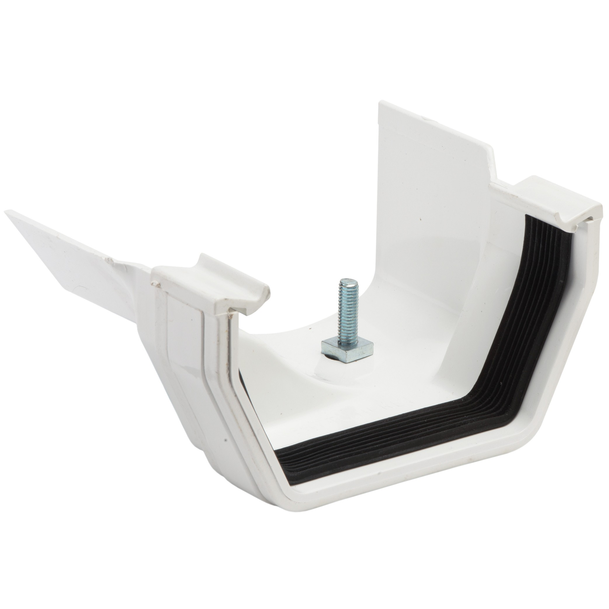 Polypipe 112mm Square to 130mm Metal Ogee Gutter Adaptor (Left Hand) - White