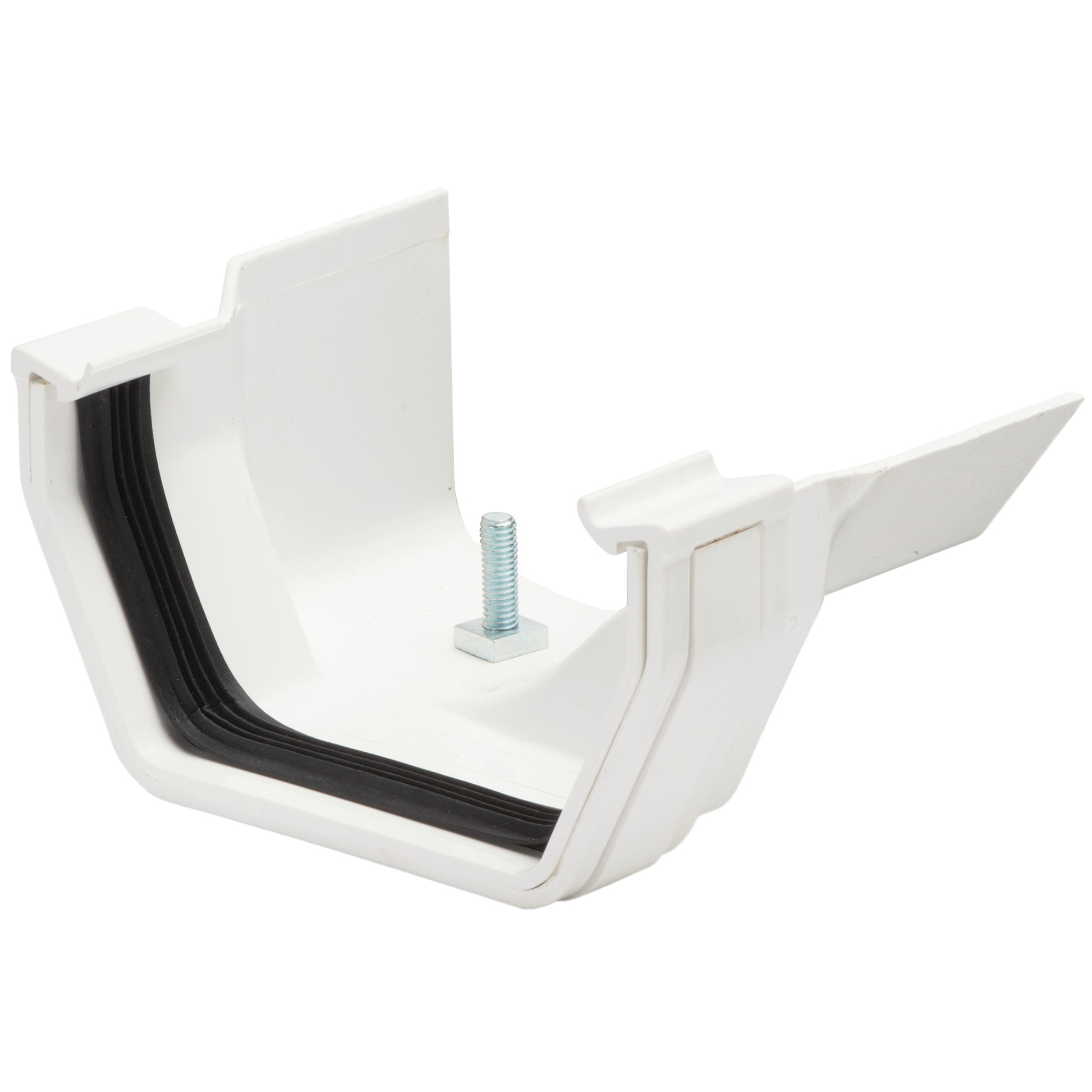 Polypipe 112mm Square to 130mm Metal Ogee Gutter Adaptor (Right Hand) - White