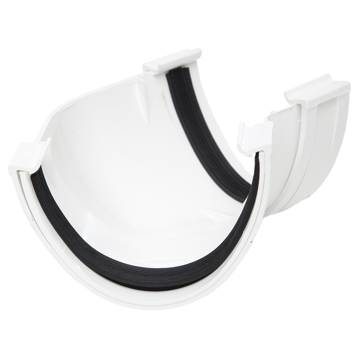 Polypipe 117mm Polyflow Deep Capacity Gutter 135 Degree Angle - White