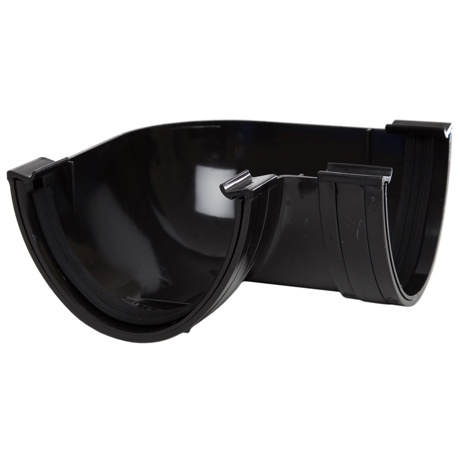 Polypipe 117mm Polyflow Deep Capacity Gutter 90 Degree Angle - Black