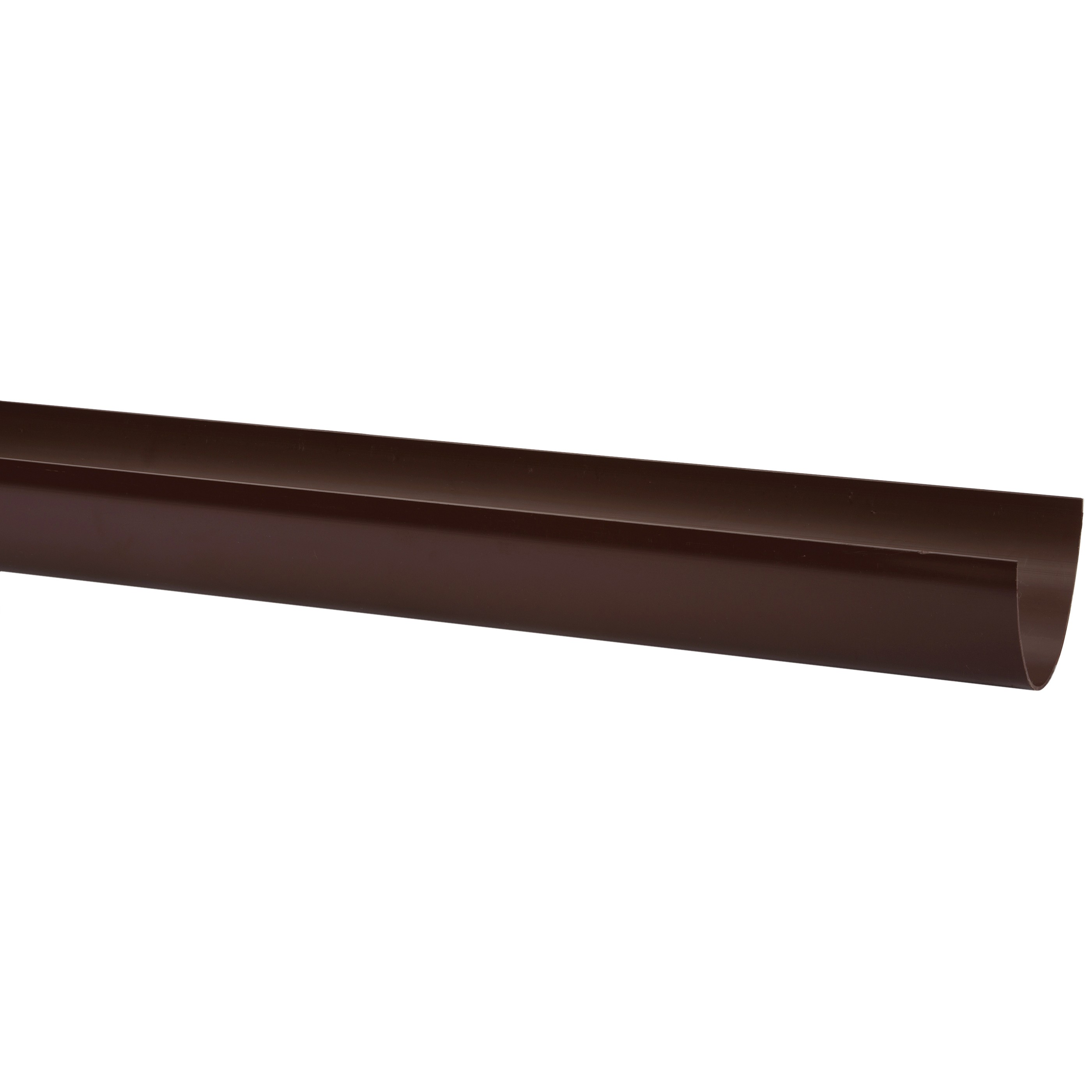 Polypipe 117mm Polyflow Deep Capacity Gutter - Brown, 4 metre