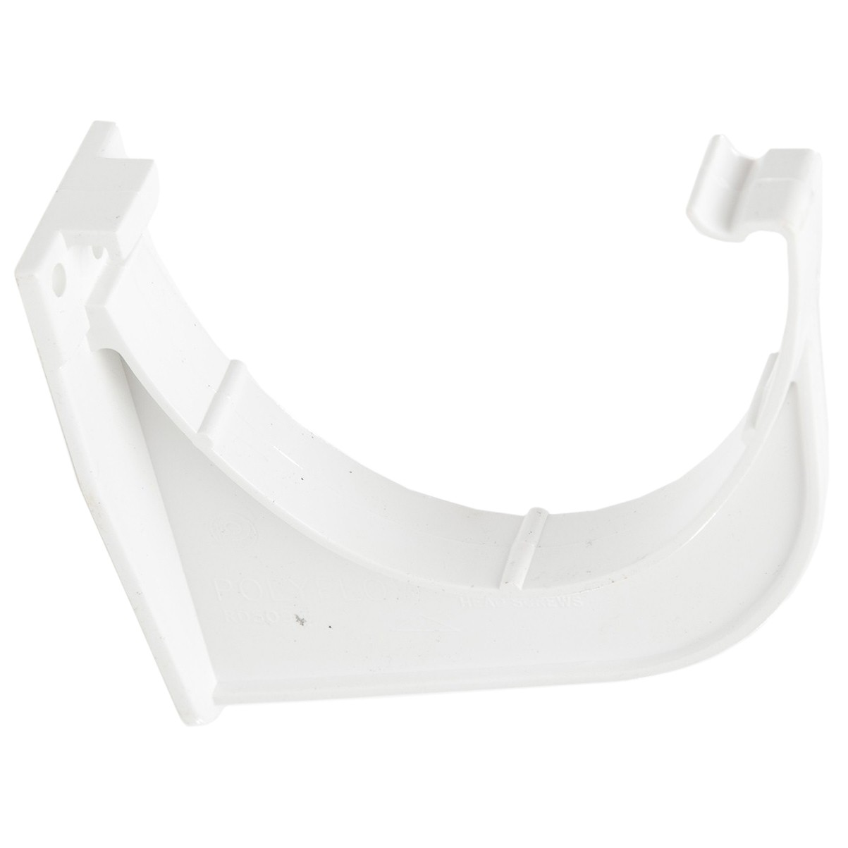 Polypipe 117mm Polyflow Deep Capacity Gutter Fascia Bracket - White