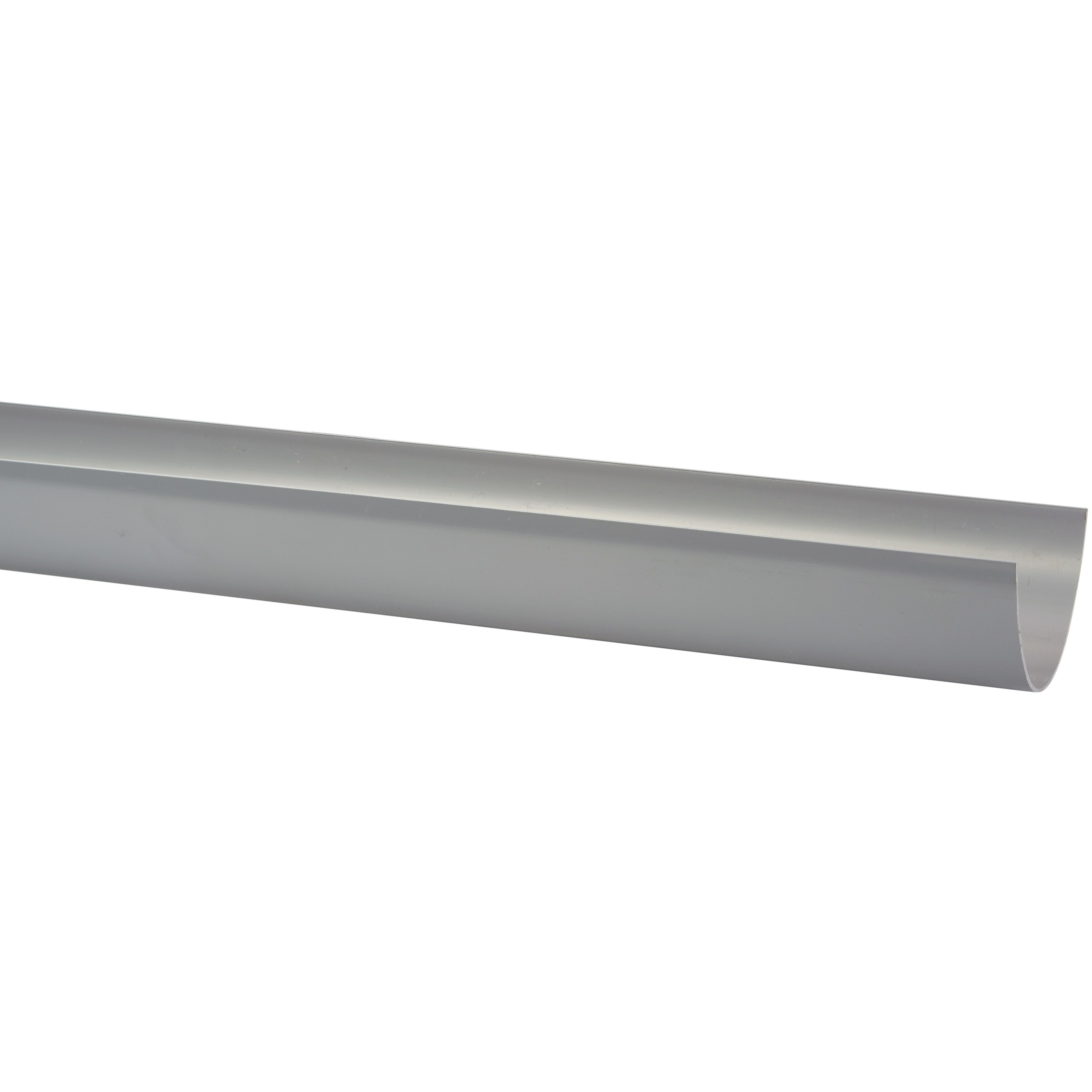 Polypipe 117mm Polyflow Deep Capacity Gutter - Grey, 2 metre