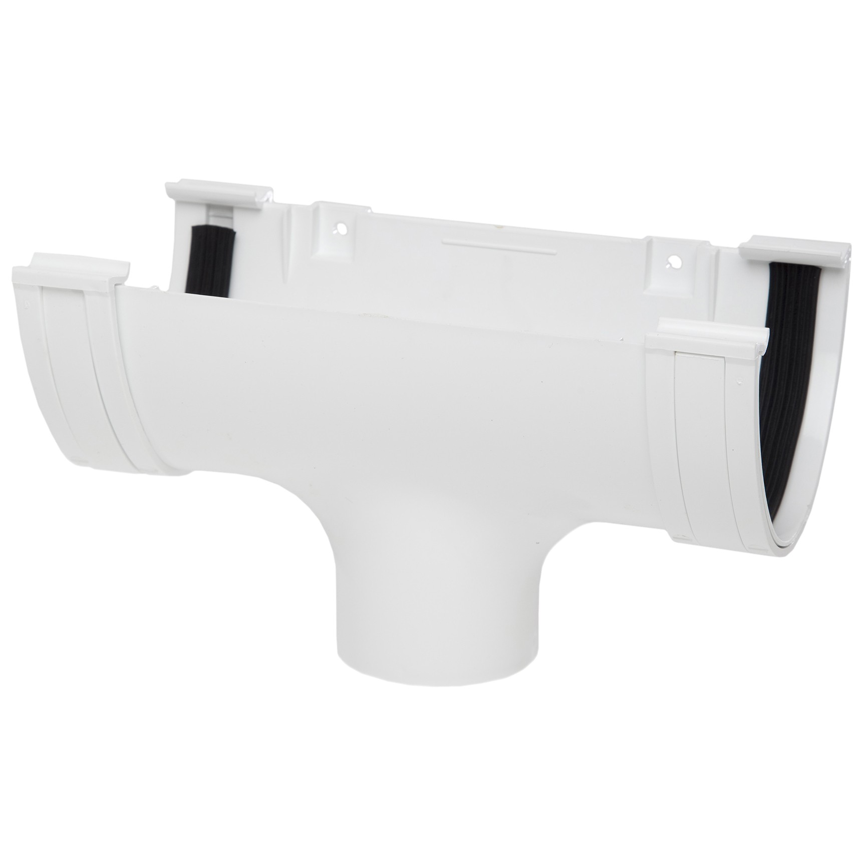 Polypipe 117mm Polyflow Deep Capacity Gutter Running Outlet - White