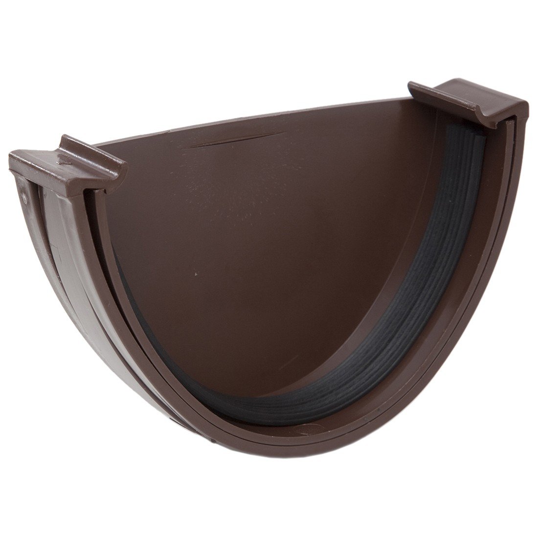 Polypipe 117mm Polyflow Deep Capacity Gutter Stop End (External) - Brown