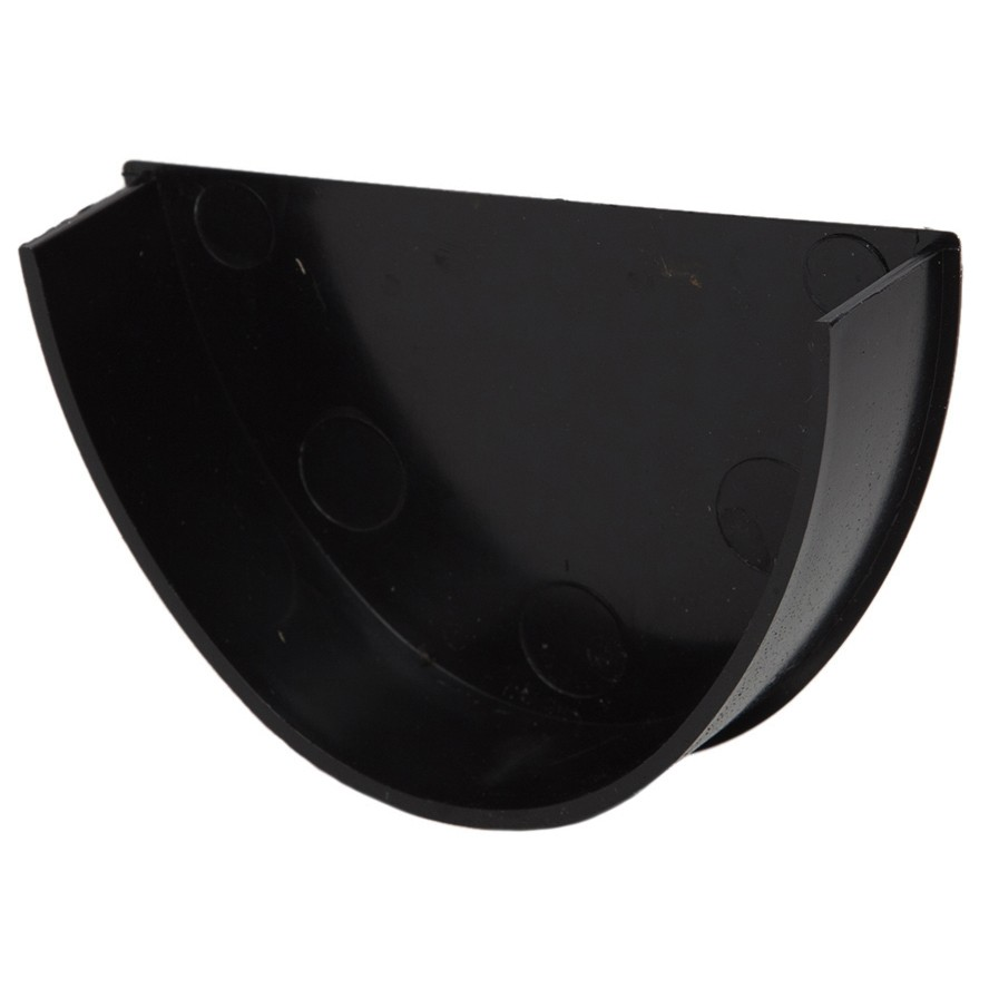 Polypipe 117mm Polyflow Deep Capacity Gutter Stop End (Internal) - Black