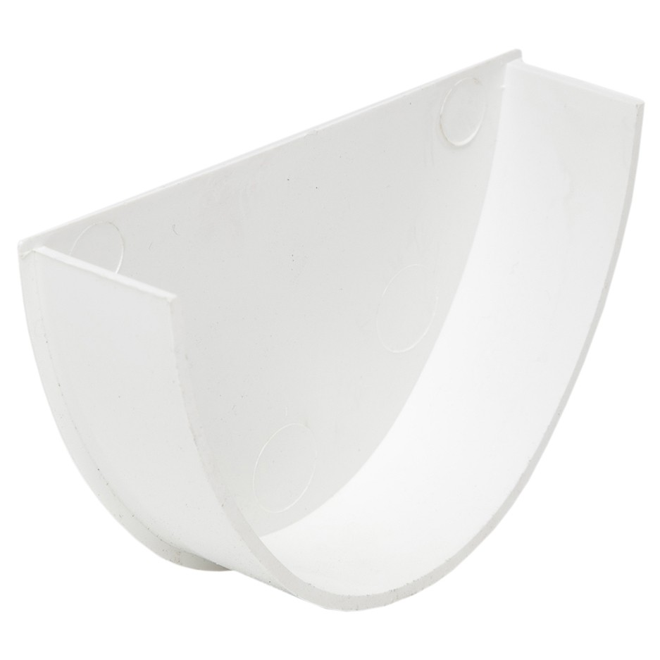 Polypipe 117mm Polyflow Deep Capacity Gutter Stop End (Internal) - White