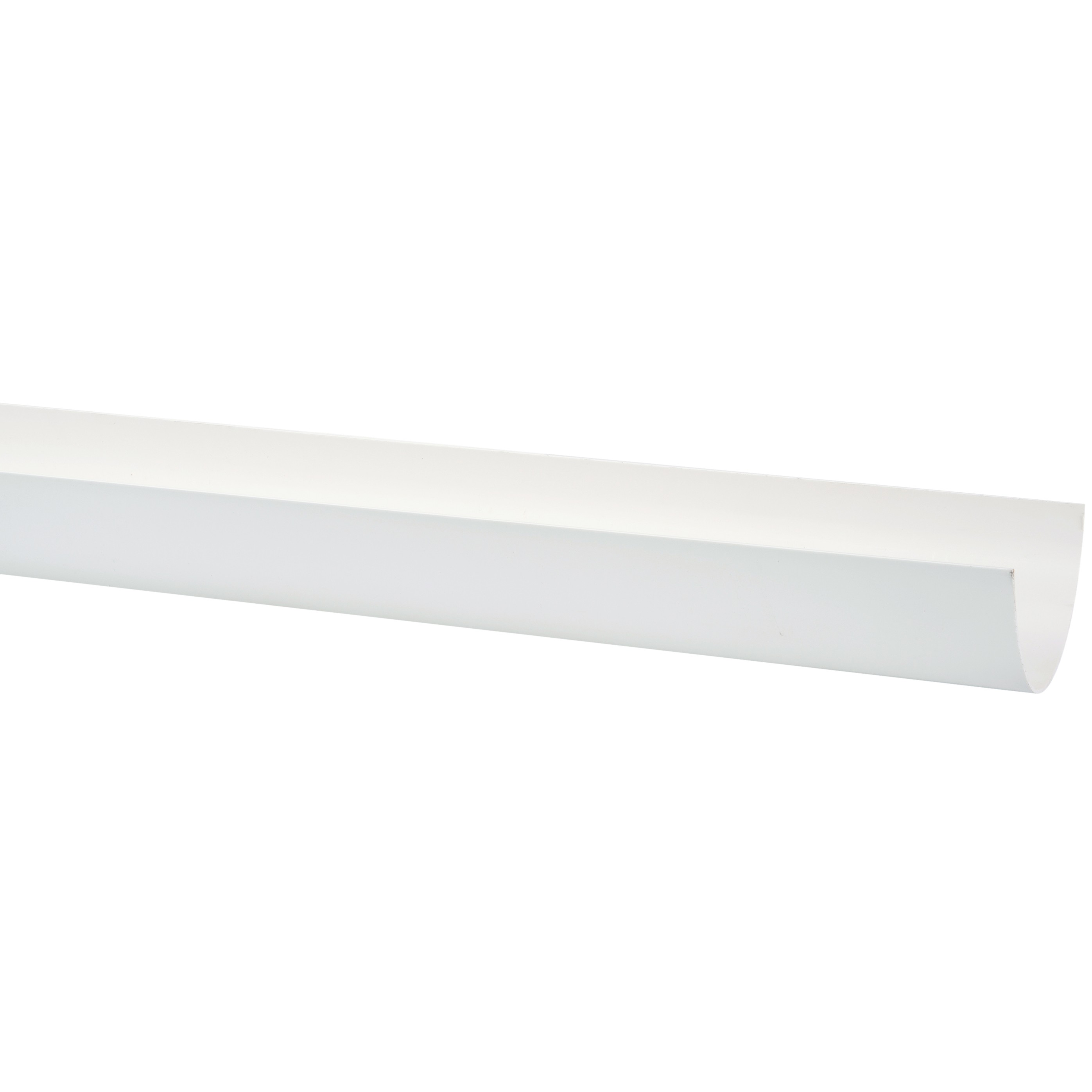 Polypipe 117mm Polyflow Deep Capacity Gutter - White, 2 metre