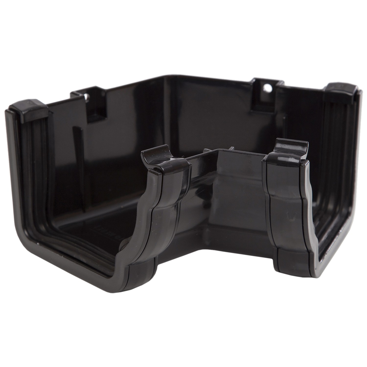 Polypipe 117mm Sovereign High Capacity Gutter 120 Degree Angle (Internal, Fabricated) - Black
