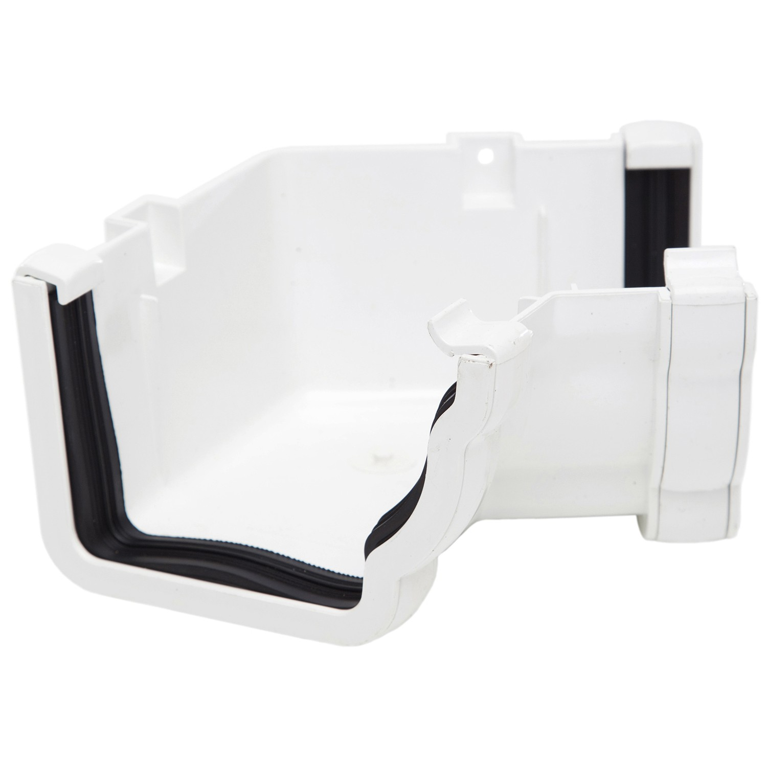 Polypipe 117mm Sovereign High Capacity Gutter 120 Degree Angle (Internal, Fabricated) - White