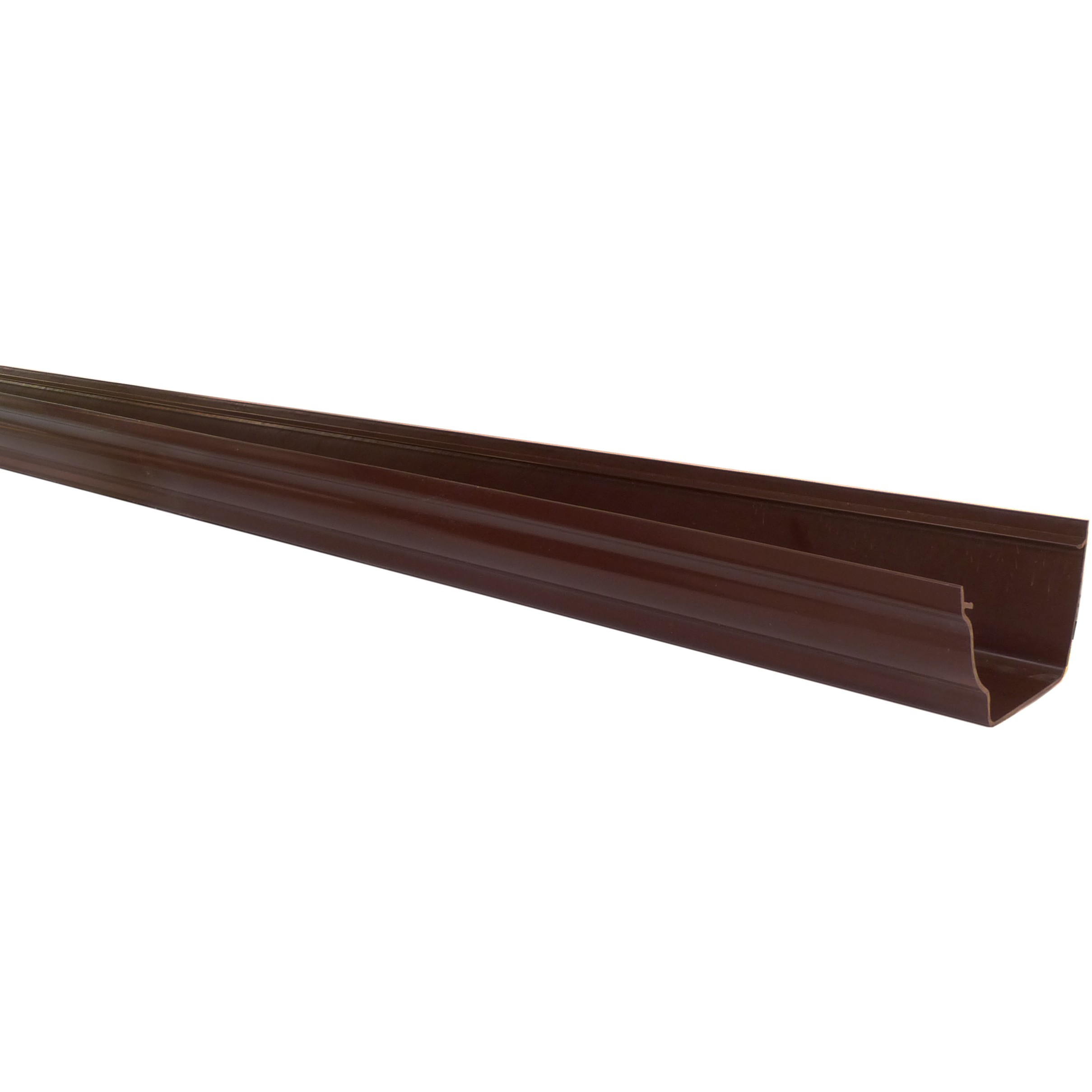 Polypipe 117mm Sovereign High Capacity Gutter - Brown, 4 metre