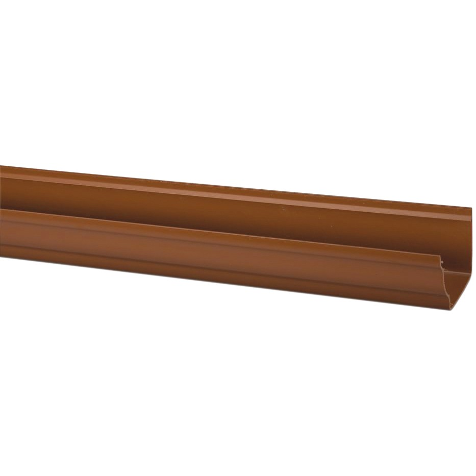Polypipe 117mm Sovereign High Capacity Gutter - Oak Brown, 4 metre