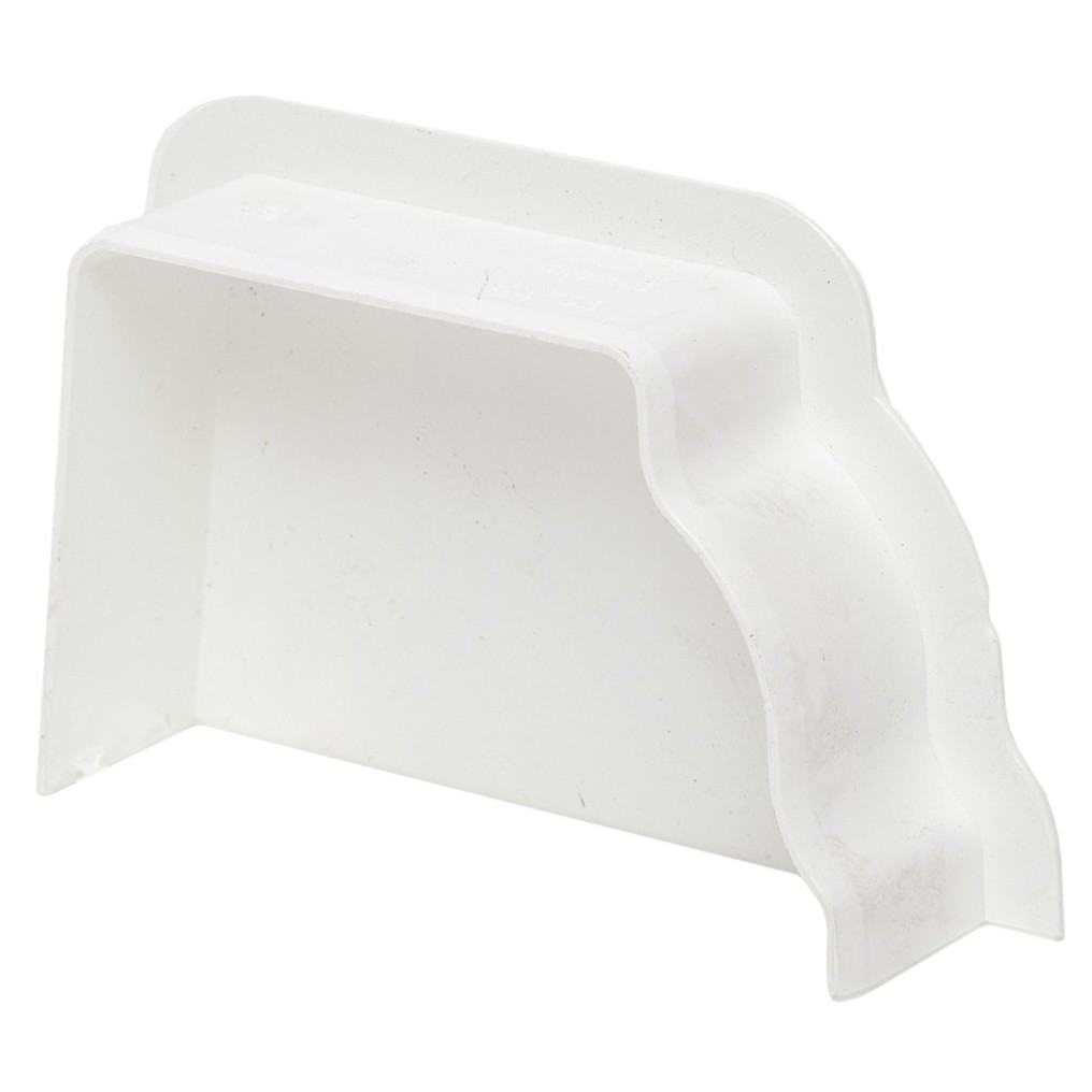 Polypipe 117mm Sovereign High Capacity Internal Stop End (Left Hand) - White