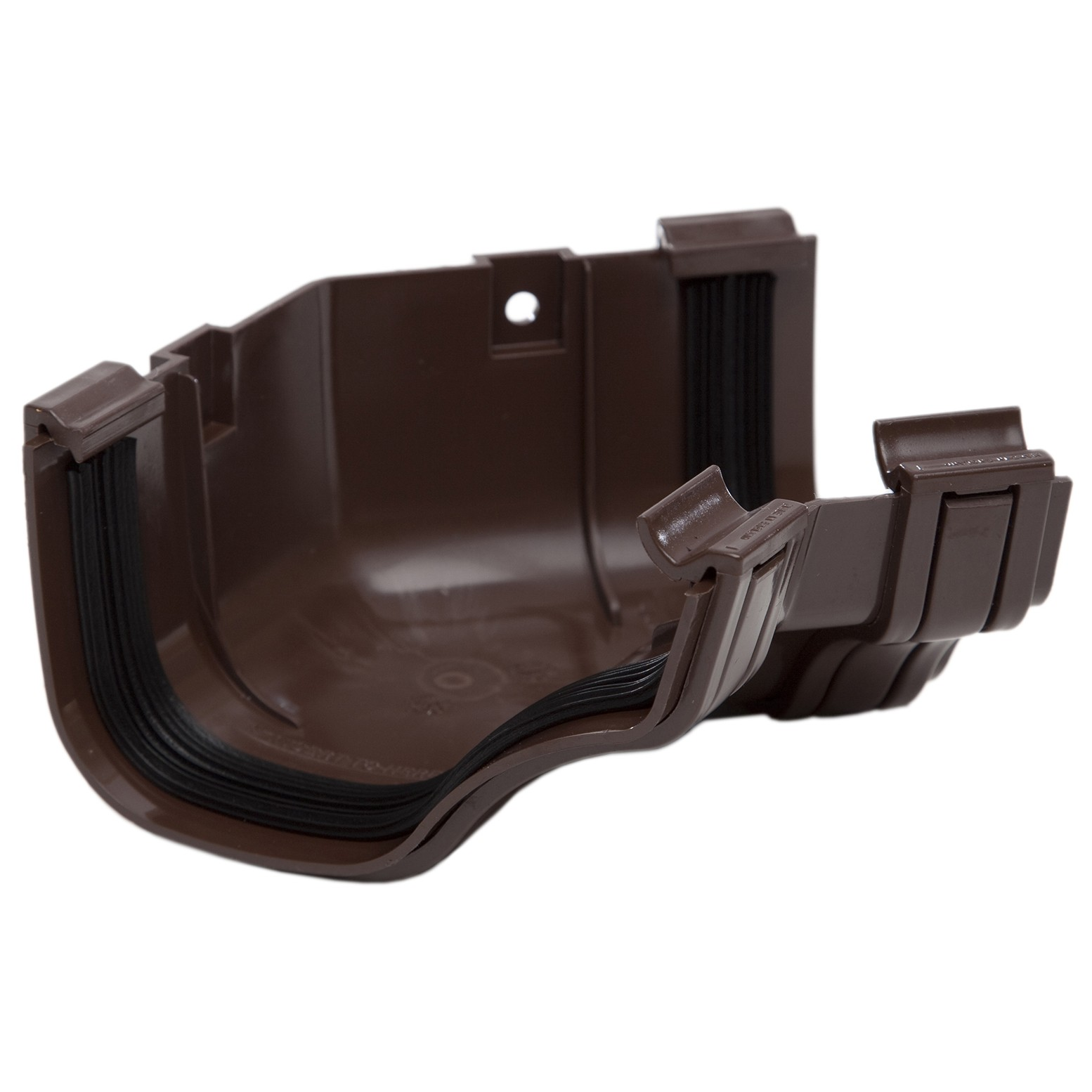 Polypipe 130mm Ogee Extra Capacity Gutter 135 Degree Angle (Internal) - Brown