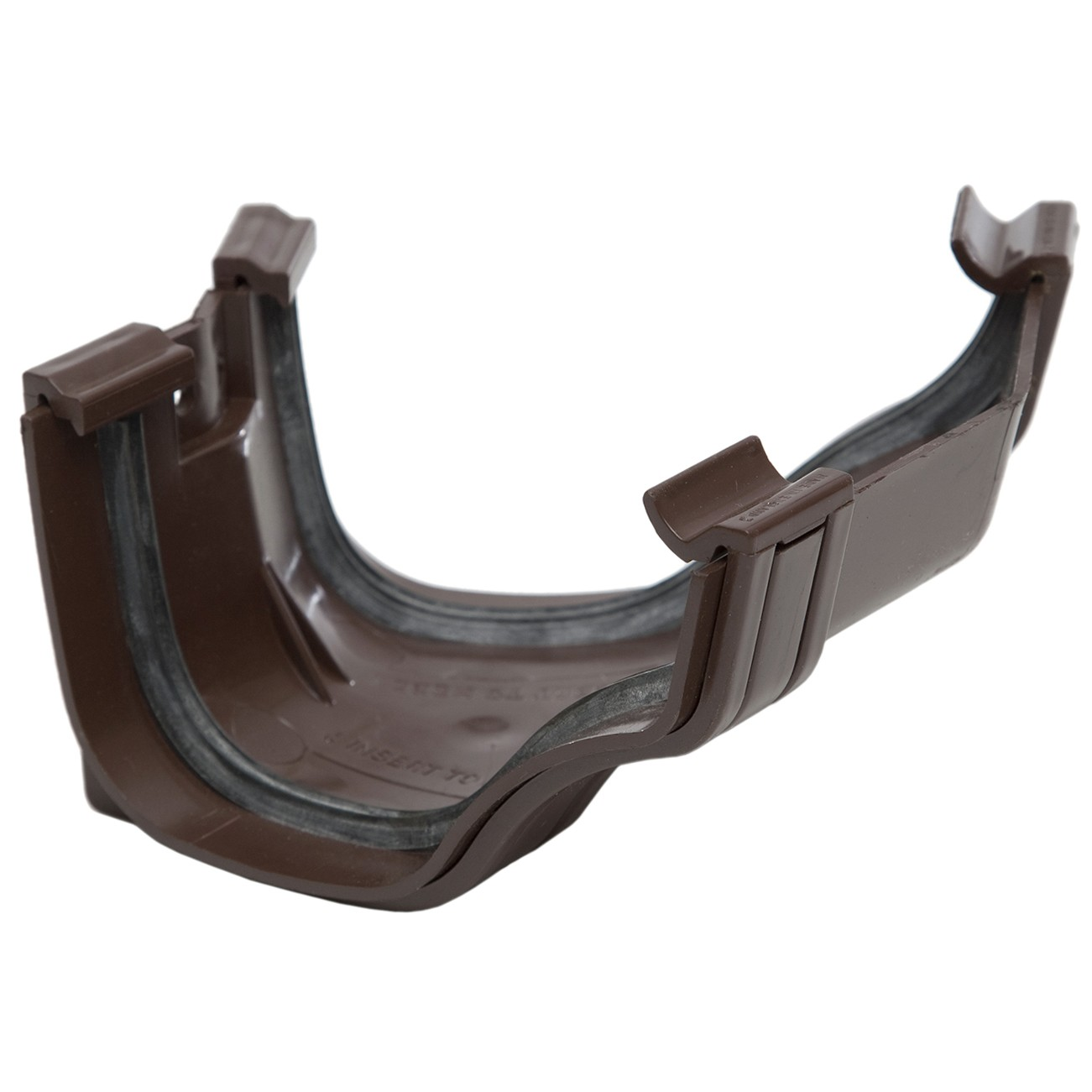 Polypipe 130mm Ogee Extra Capacity Gutter 150 Degree Angle (External, Fabricated) - Brown