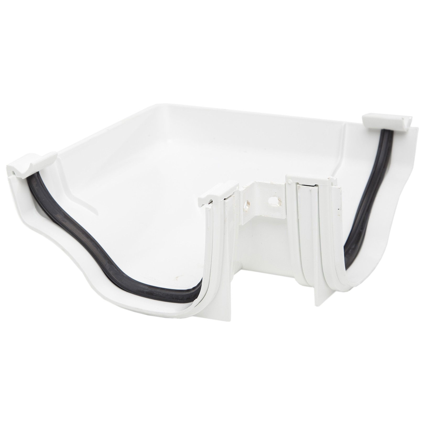 Polypipe 130mm Ogee Extra Capacity Gutter 90 Degree Angle (External) - White