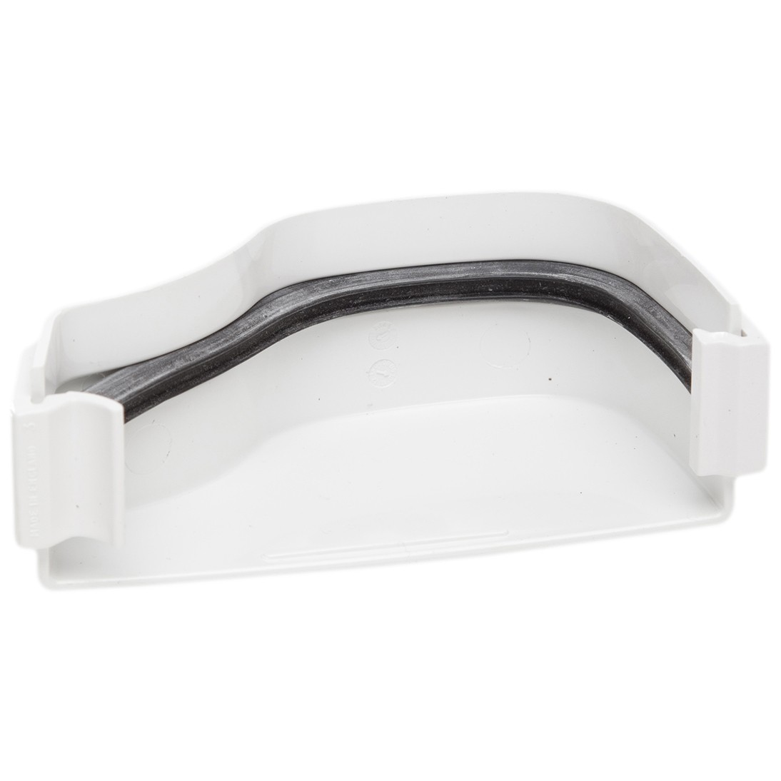 Polypipe 130mm Ogee Extra Capacity Gutter External Stop End (Right Hand) - White