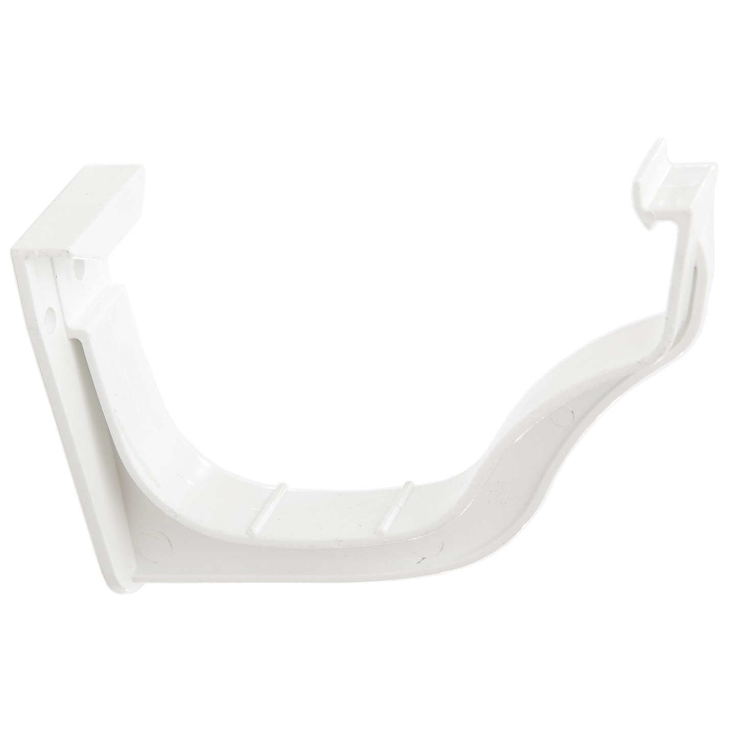 Polypipe 130mm Ogee Extra Capacity Gutter Fascia Bracket - White