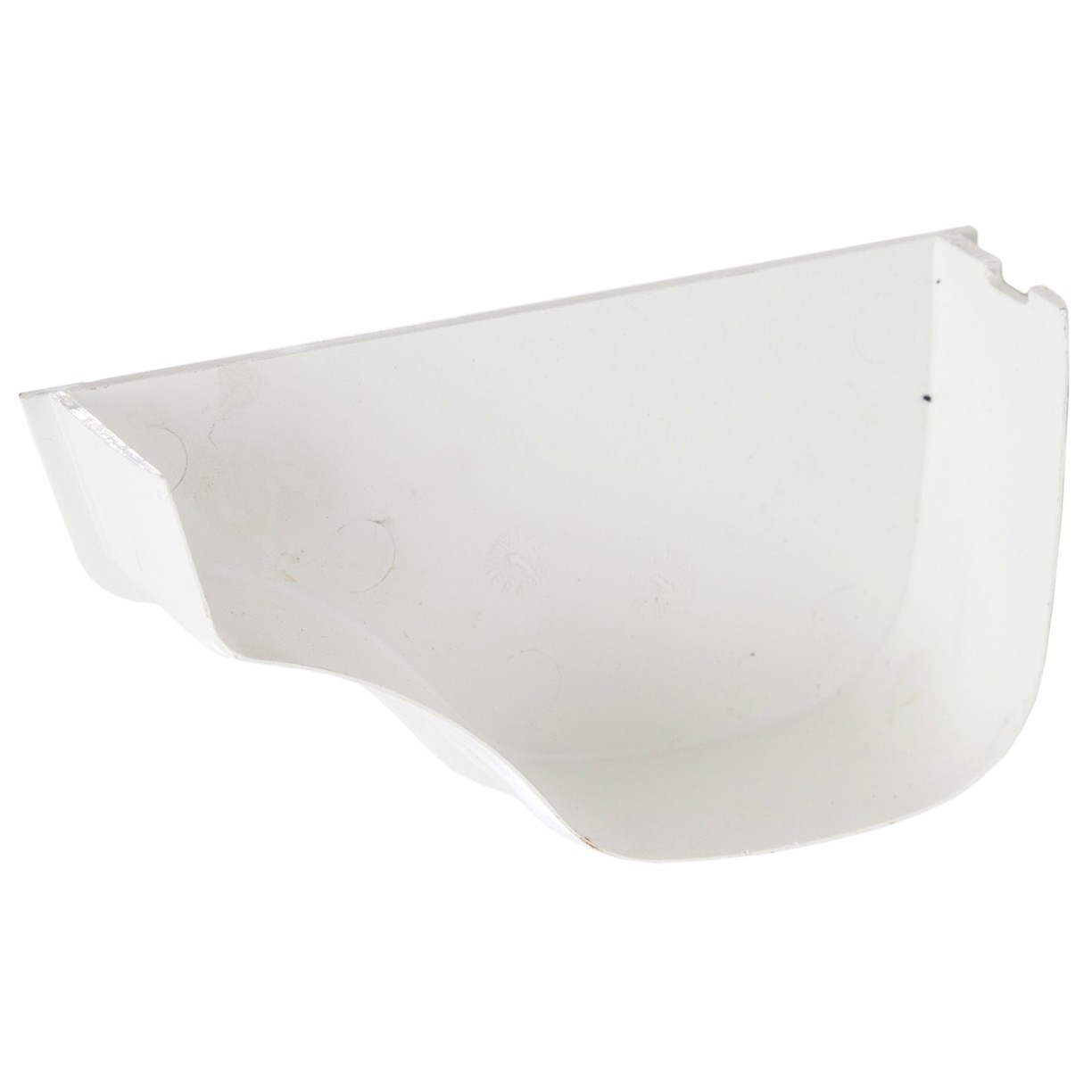 Polypipe 130mm Ogee Extra Capacity Gutter Internal Stop End (Left Hand) - White