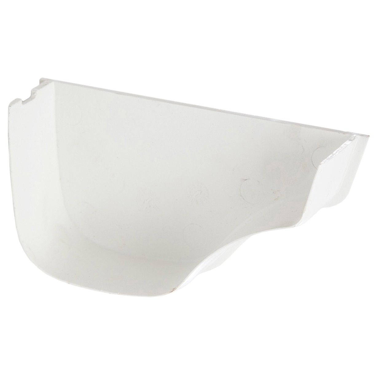 Polypipe 130mm Ogee Extra Capacity Gutter Internal Stop End (Right Hand) - White