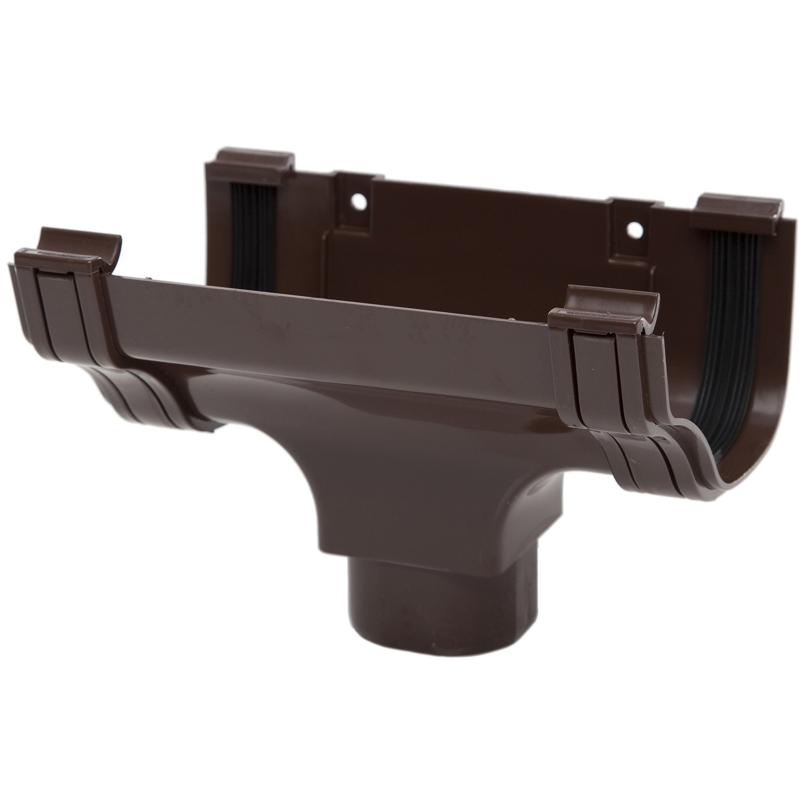 Polypipe 130mm Ogee Extra Capacity Gutter Running Outlet - Brown